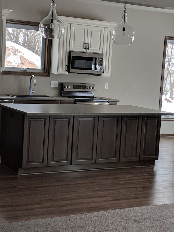 Drift stain cabinets