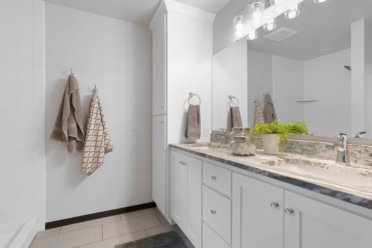 fantasy brown marble bathroom vanity picture