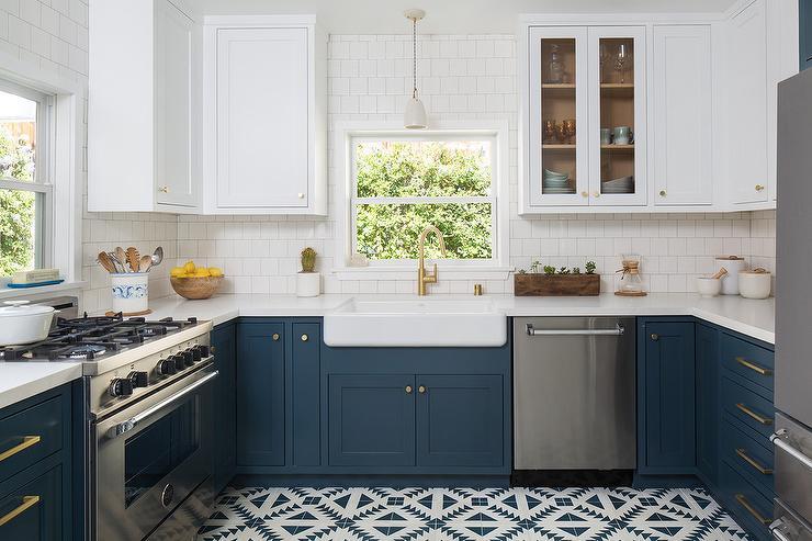 Navy Blue Kitchen Cabinets 1 Granite Stoneworks Llc
