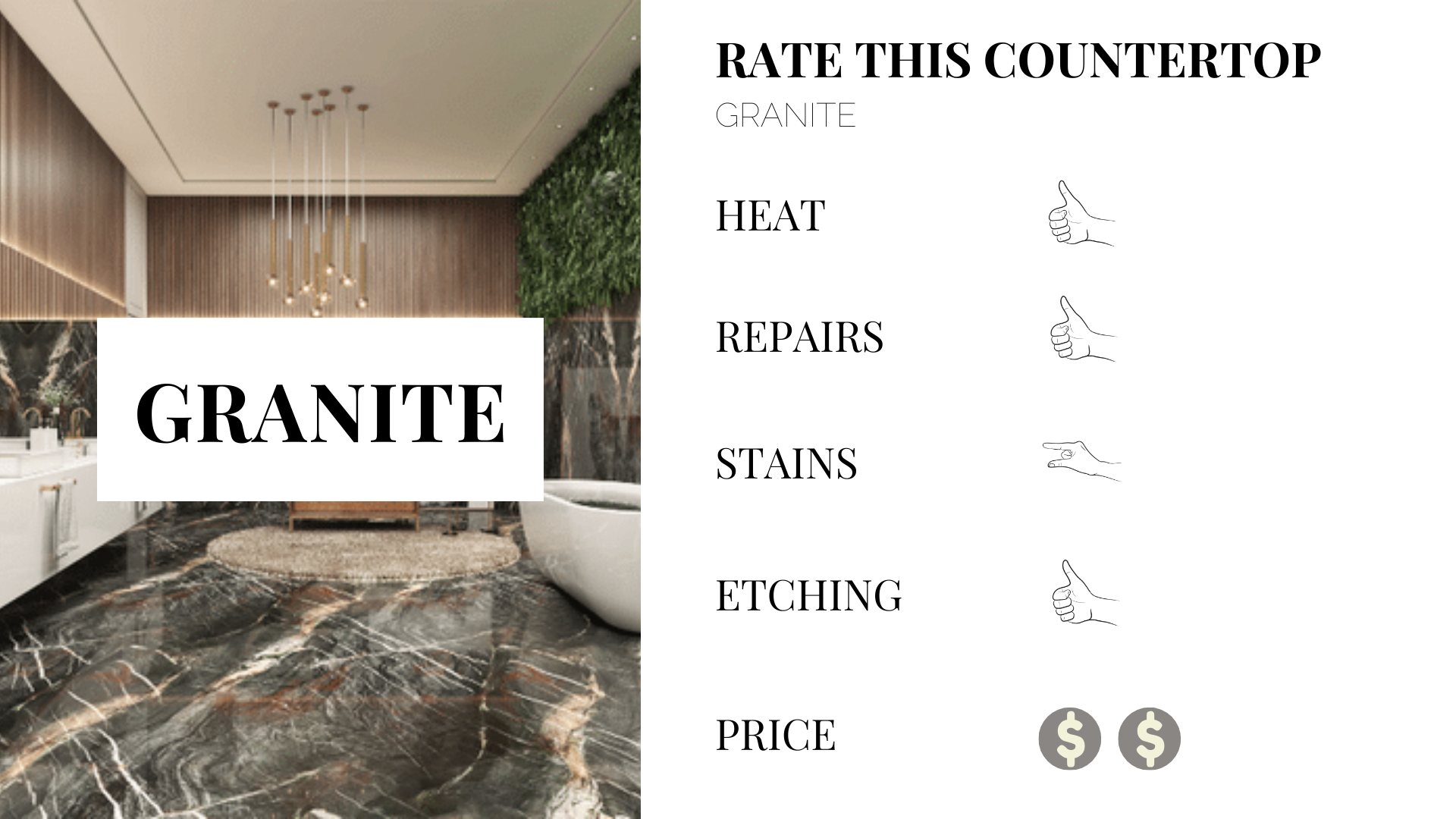 benefits to granite kitchen counter tops