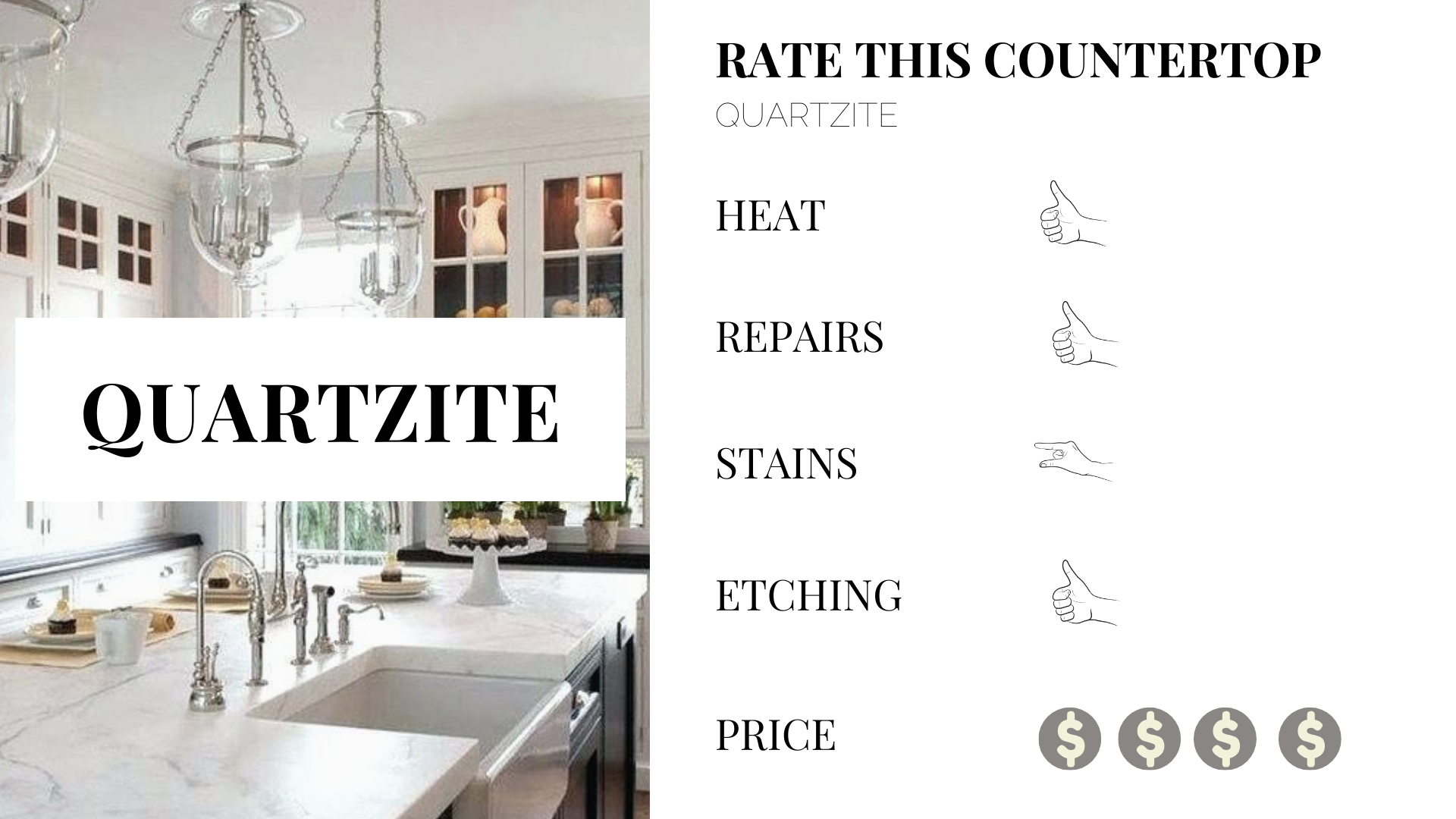 benefits to quartzite kitchen counter tops